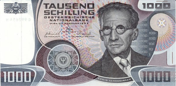 1000 schilling currency bill in Austria