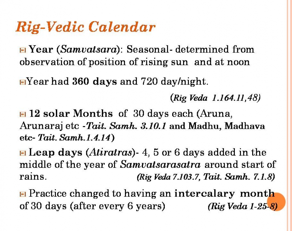 VEDIC CHRONOLOGY 1 ASTRONOMICAL DATING